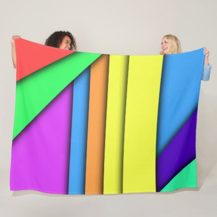 Bars of Color Fleece Blanket