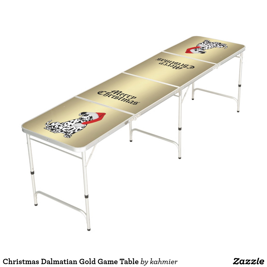Christmas Dalmatian Gold Game Table