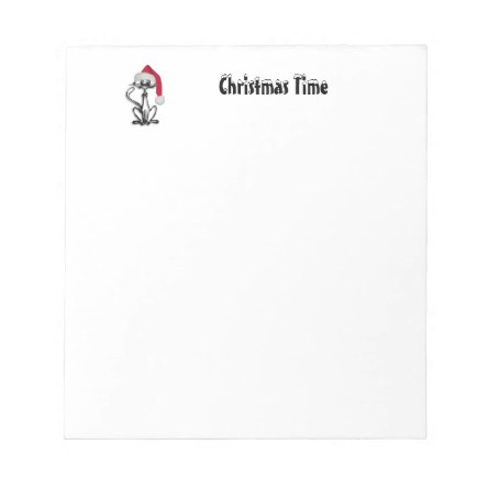 Christmas Time Cat Notepad