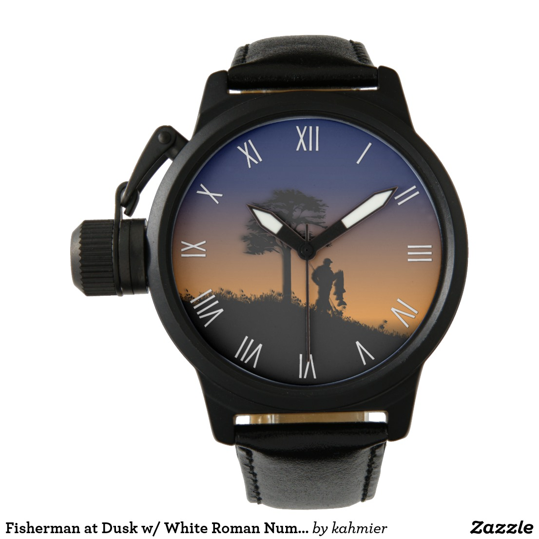 Fisherman at Dusk w/ White Roman Numerals Watch