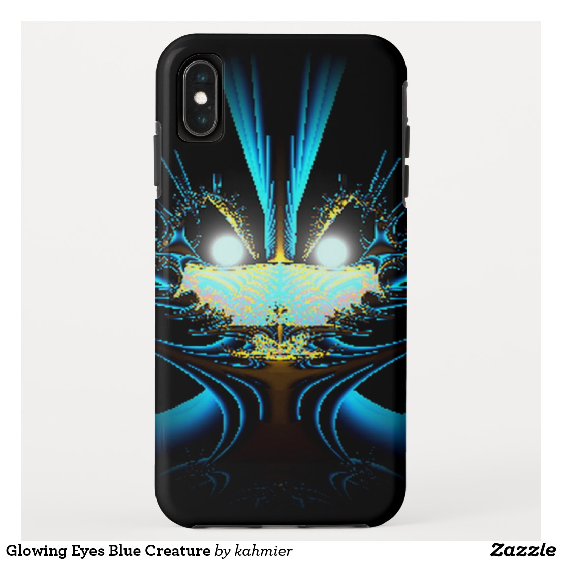 Glowing Eyes Blue Creature iPhone XS Max Case
