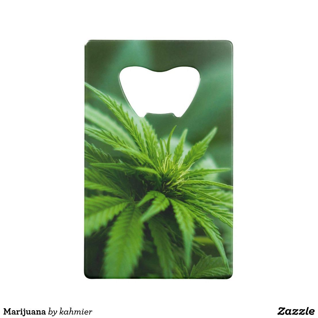 Marijuana Credit Card Bottle Opener