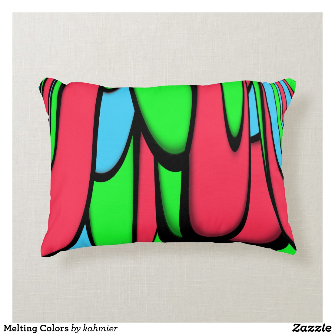 Melting Colors Accent Pillow
