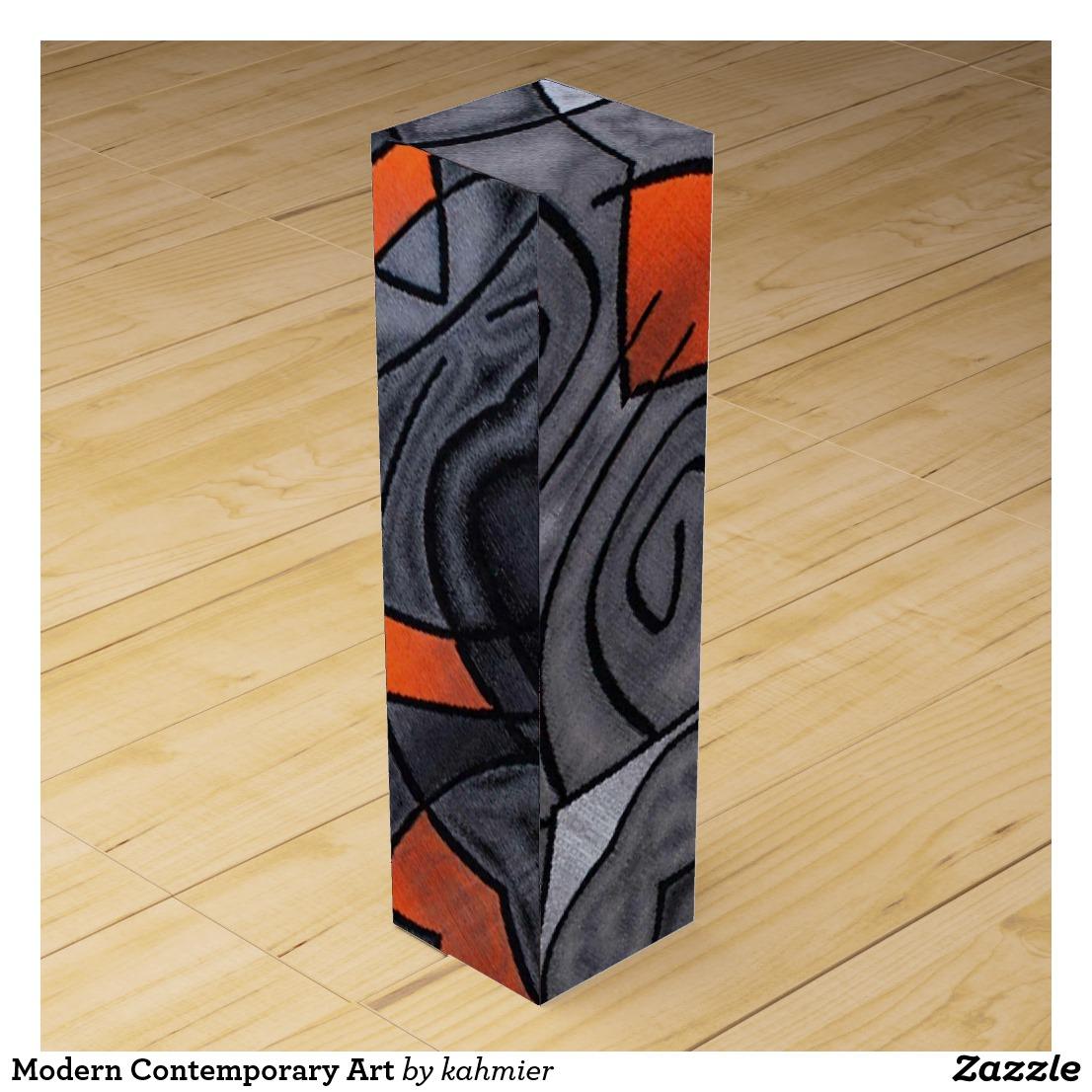 Modern Contemporary Art Wine Box