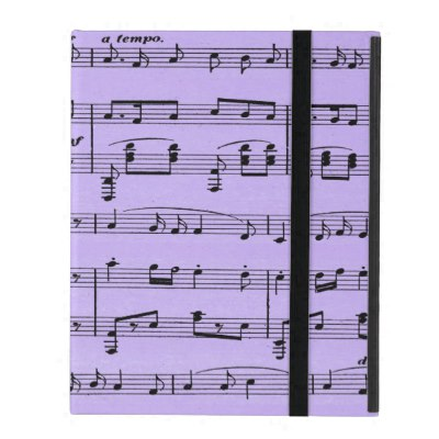 Purple Sheet Music iPad Case