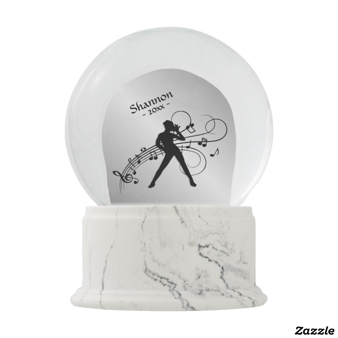 Modern Dance Personal Snow Globe