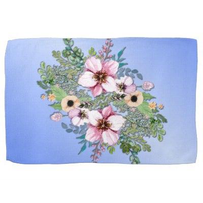 Arrangement of Flowers Hand Towel