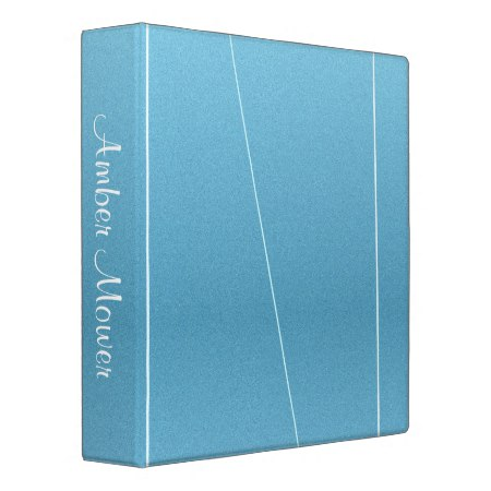 Blue Line Print 3 Ring Binder
