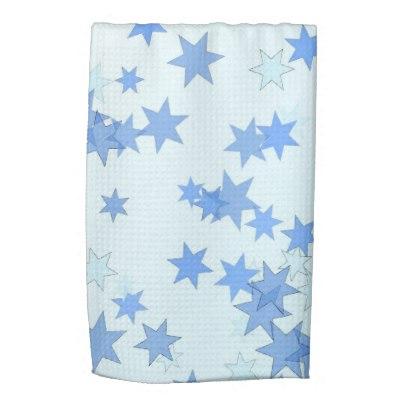 Blue Stars Design Hand Towel