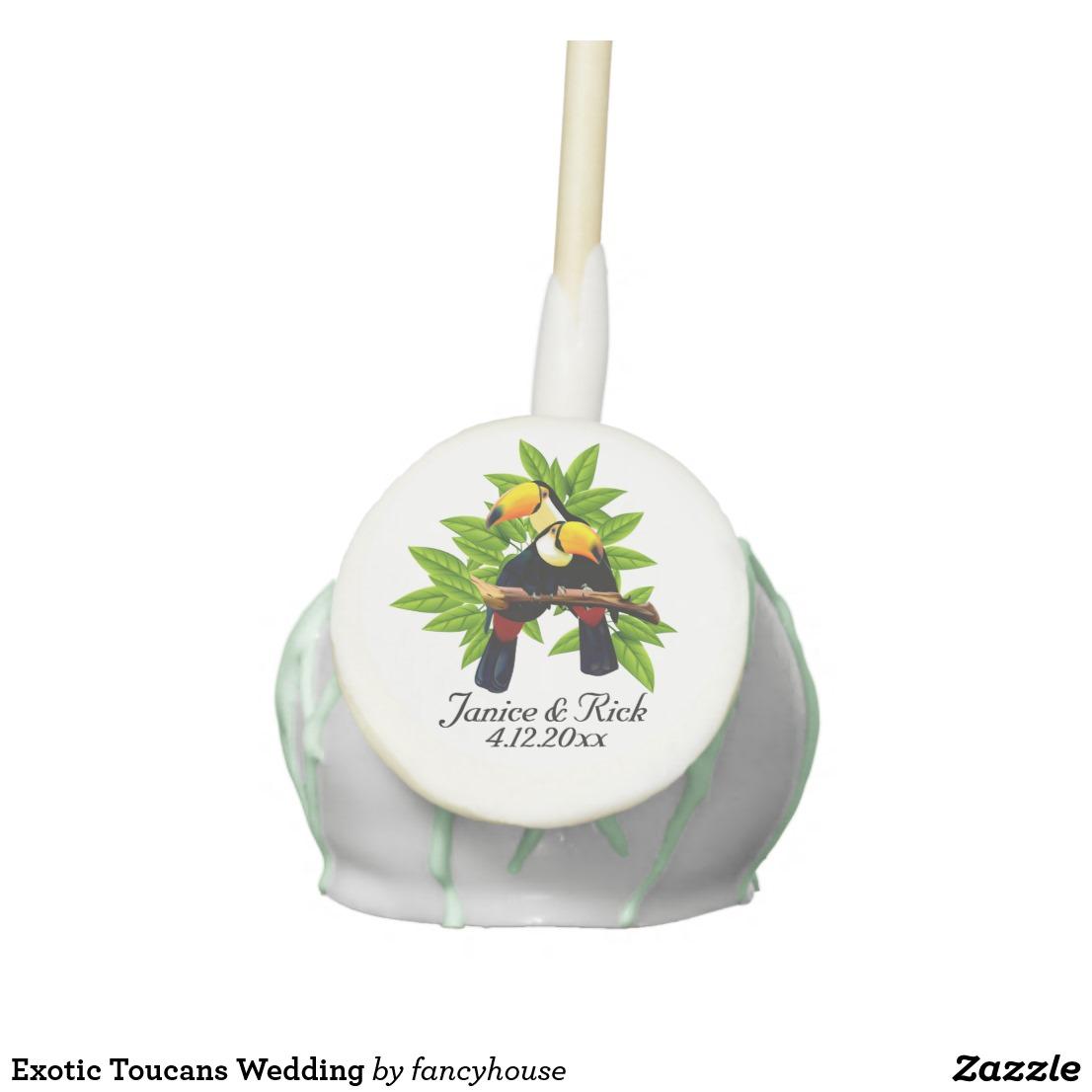 Exotic Toucans Wedding Cake Pops
