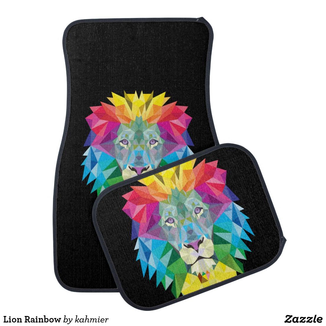 Lion Rainbow Car Mat