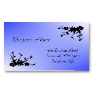 Blue Elegant Business Card