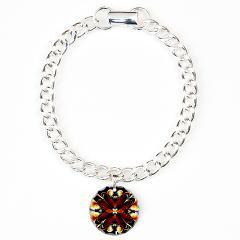 Rustic Fractal Charm Bracelet