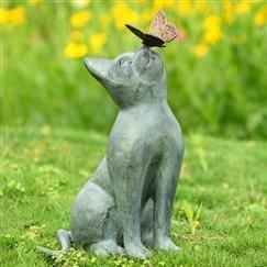 cat yard statue