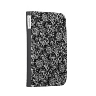 Metal Flowers Kindle Case