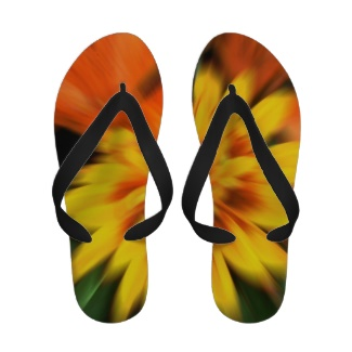 Mystic Flowers Splash Flip Flop