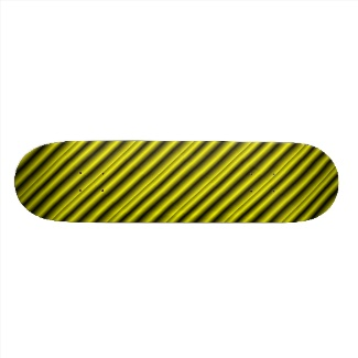 Yellow and Black Stripe Skateboard Deck