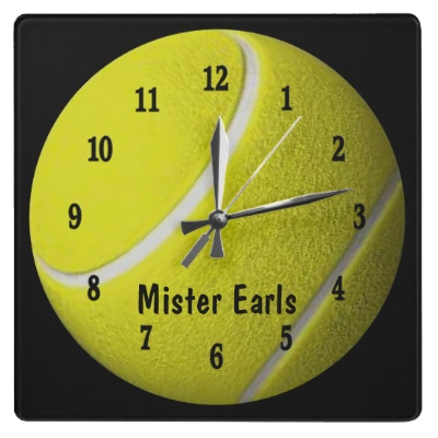 Tennis Ball Sport Wall Personalize Clock