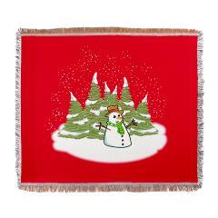 Frosty Snowman Throw Blanket