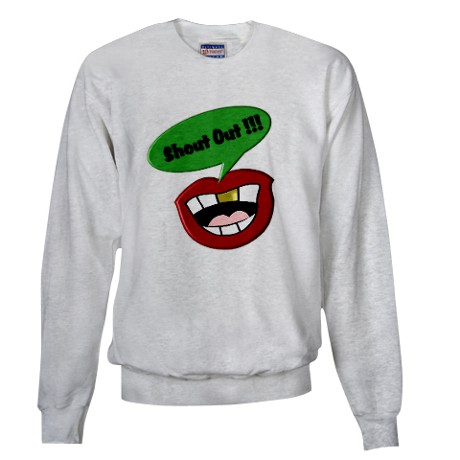 Funny Shout Out Mouth 2 Sweatshirt by listing-store-11861778