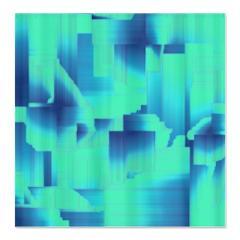 blue hues shower curtain