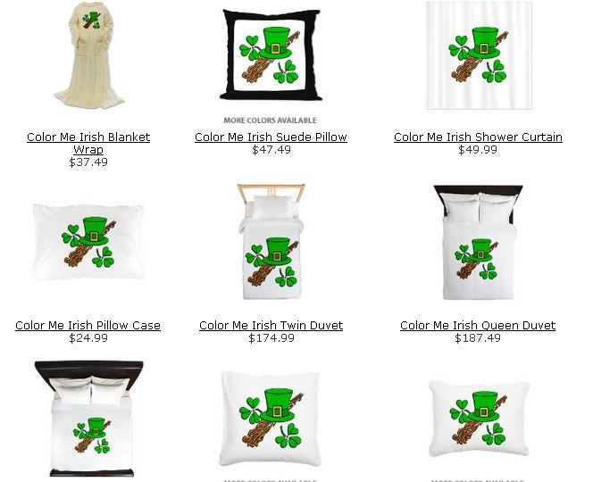 Bedding for St Pats Day