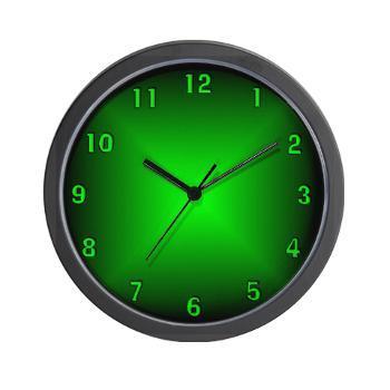 green_glow_wall_clock