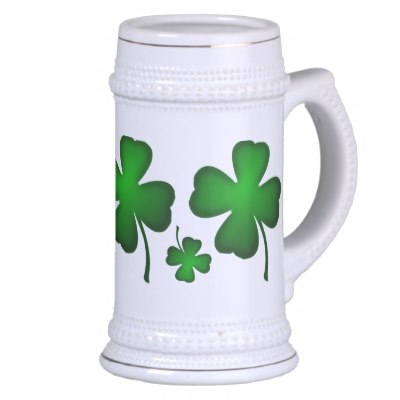 Lucky Four Leaf Clover Stein Mugs