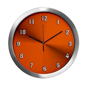 orange_glow_modern_wall_clock