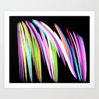 color crayon scribble print
