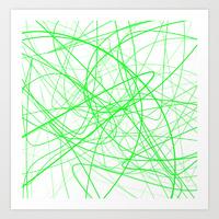 Green scribble print
