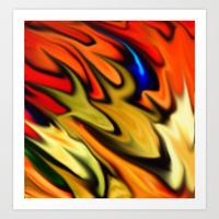 flaming color print