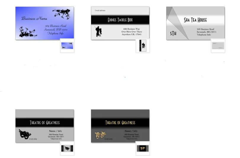 double side business card templates