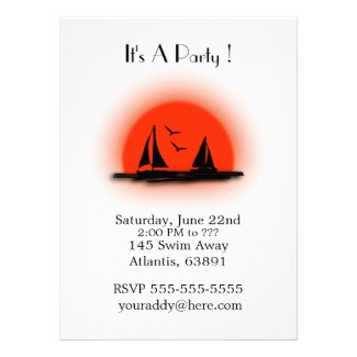 Boat Party Invitations