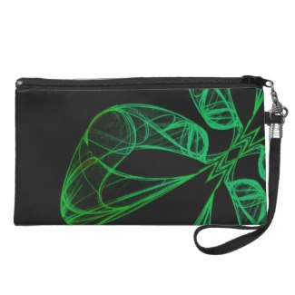 Four Leaf Clover Green Wristlet Clutches