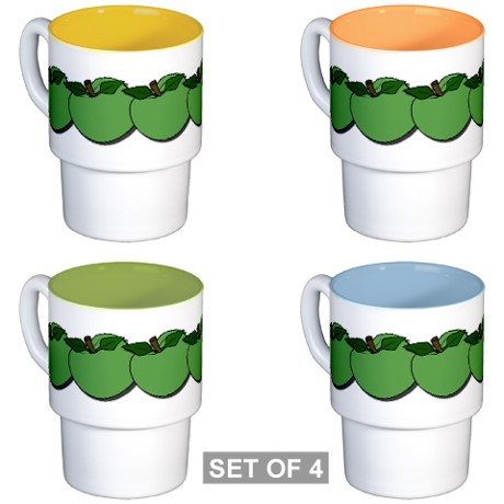 Green Apples Coffee Cups by listing-store-11861778