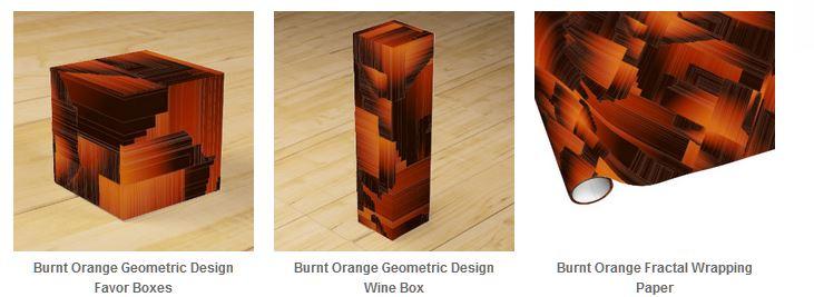 Burnt Orange Gift Wrap