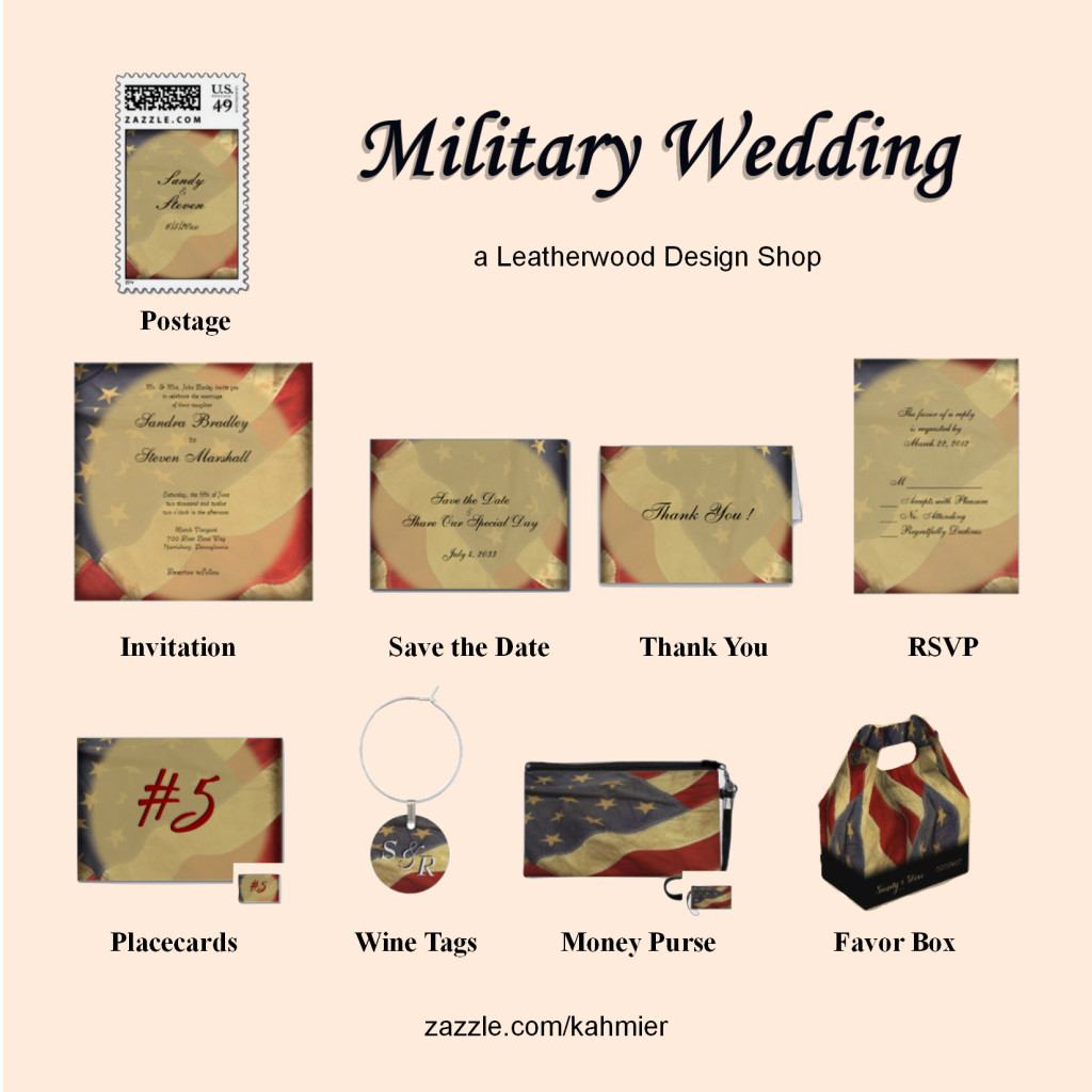 military theme wedding
