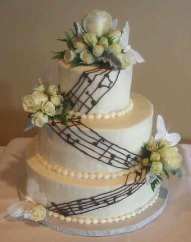 music notes wedding cake on Music theme wedding page
