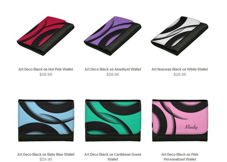 art deco wallets