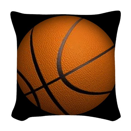 Basketball Sports Woven Throw Pillow