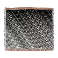 black and white stripe blanket