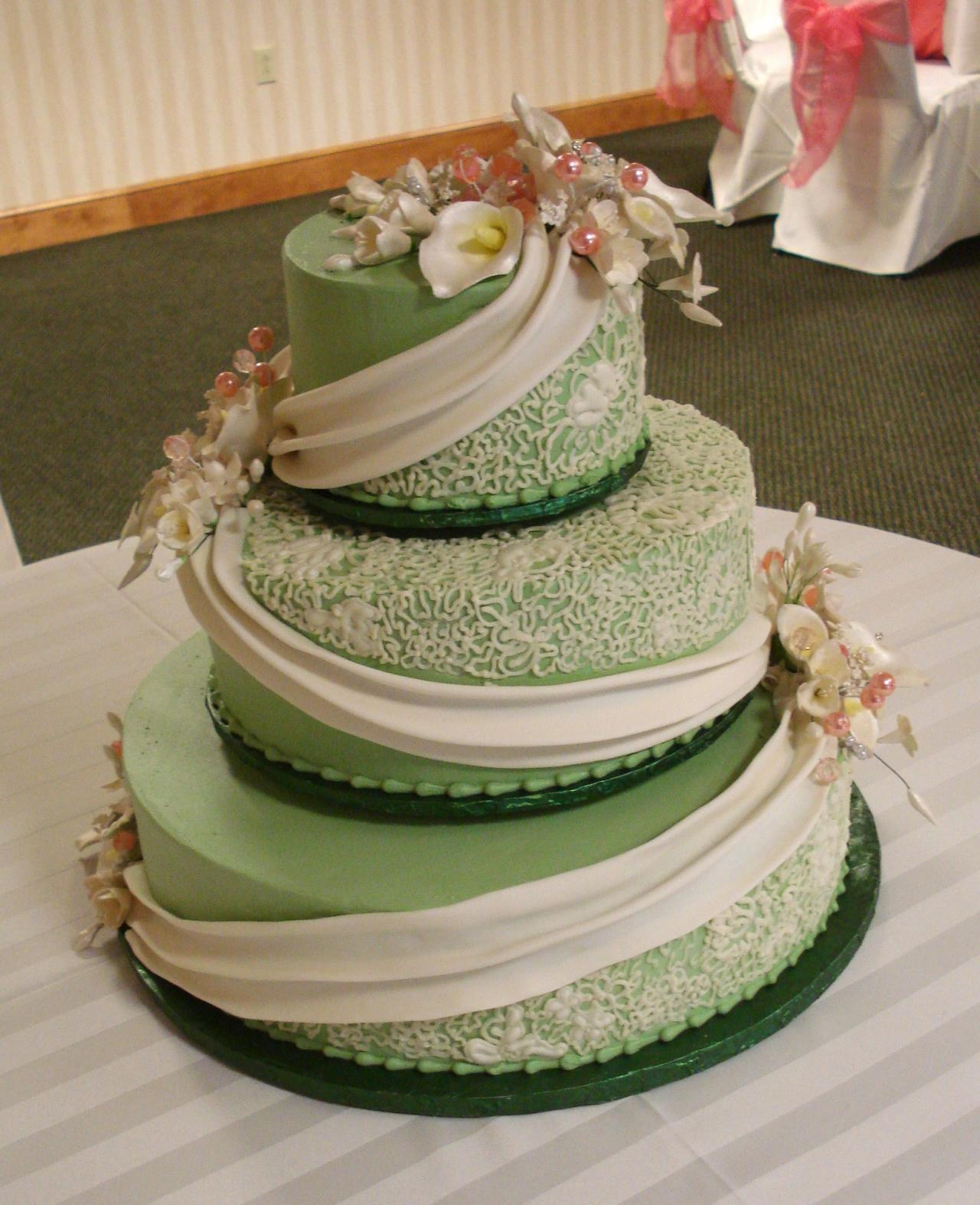 olive green and gold wedding cake green wedding cake idea home 17999