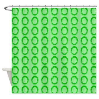 Green Circles Shower Curtain