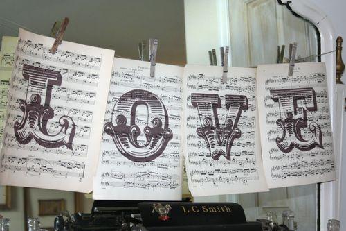 sheet music wedding idea