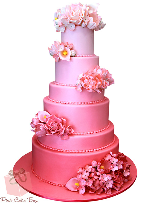 Pink wedding cakes on pink wedding idea site