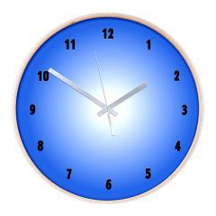 blue kitchen wall clock