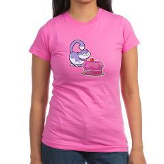 Purple Birthday Cat  t shirt