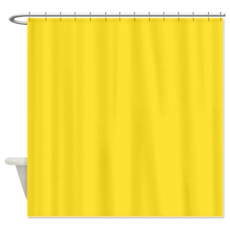 Solid Lemon Yellow Shower Curtain by TheShowerCurtain