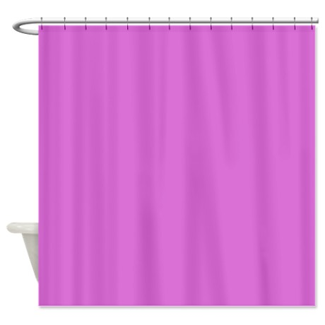 Solid Orchid Shower Curtain by TheShowerCurtain
